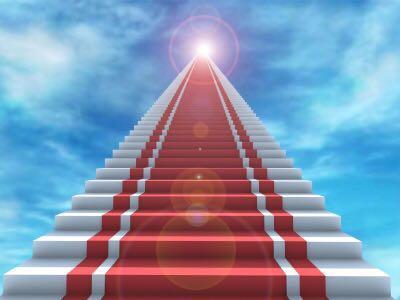 Degraus na escada para o milagre